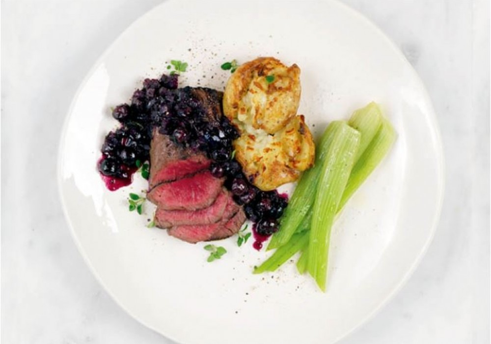 Roast Venison with Blueberry Sauce