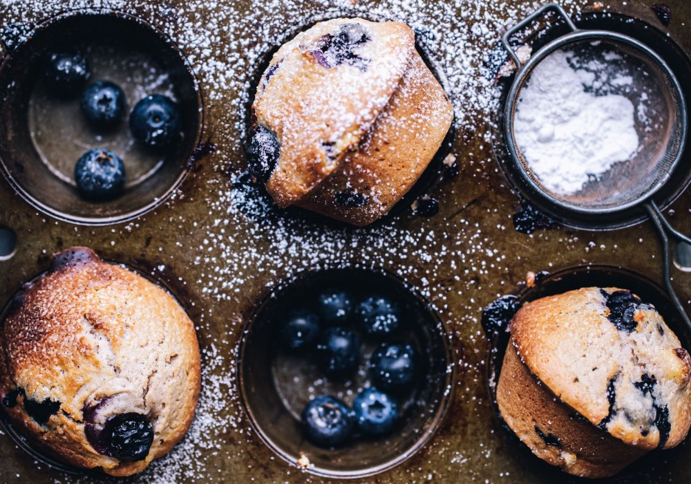 Blueberry & Cream Cheese Muffins